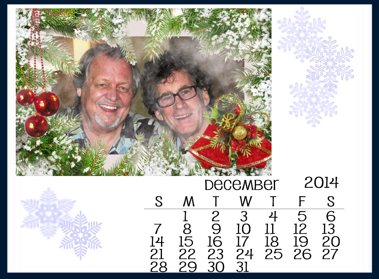 Starksy & Hutch December 2014 Calendar