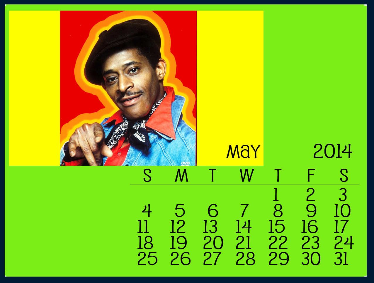 Starksy & Hutch May 2014 Calendar