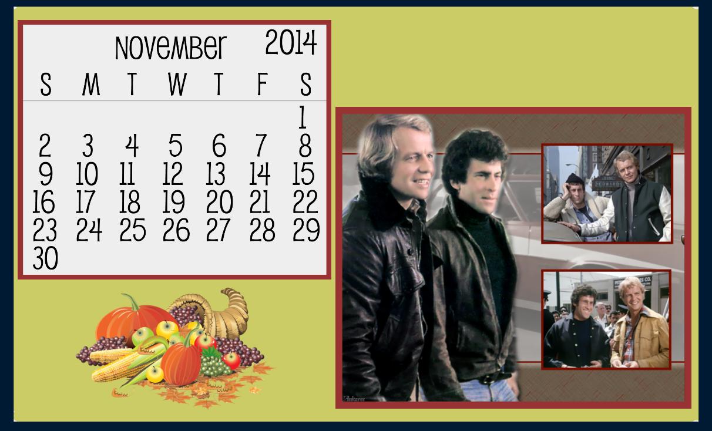 Starksy & Hutch November 2014 Calendar